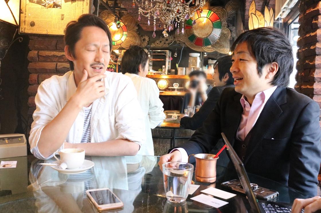 千田さんと駒崎のパパトークの様子