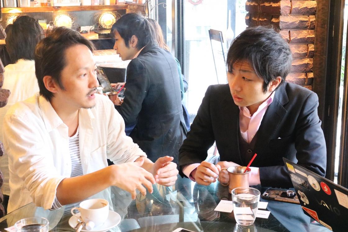 野菜の流通について語る千田さんの写真
