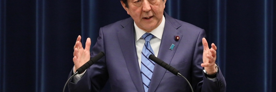 阿部首相の写真
