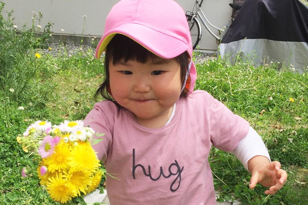 お子さんの笑顔の写真