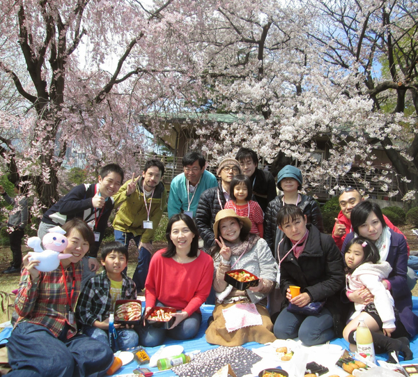 サポート隊員(ひとり親支援の寄付会員)お花見会を開催しました!
